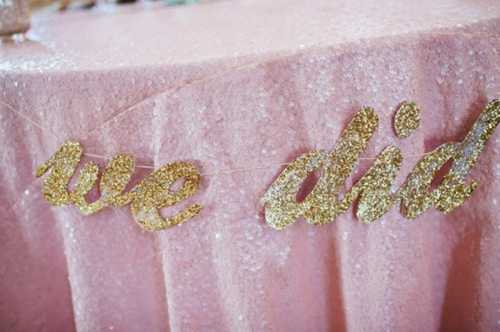 Pink-sequin-table-linens-with-gold-i-do-sign.full