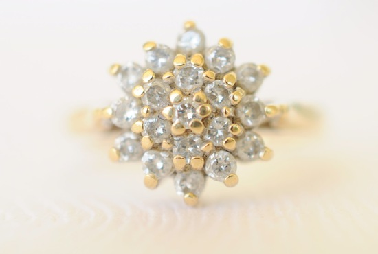Antique sparkly engagement ring or wedding gift for the bride