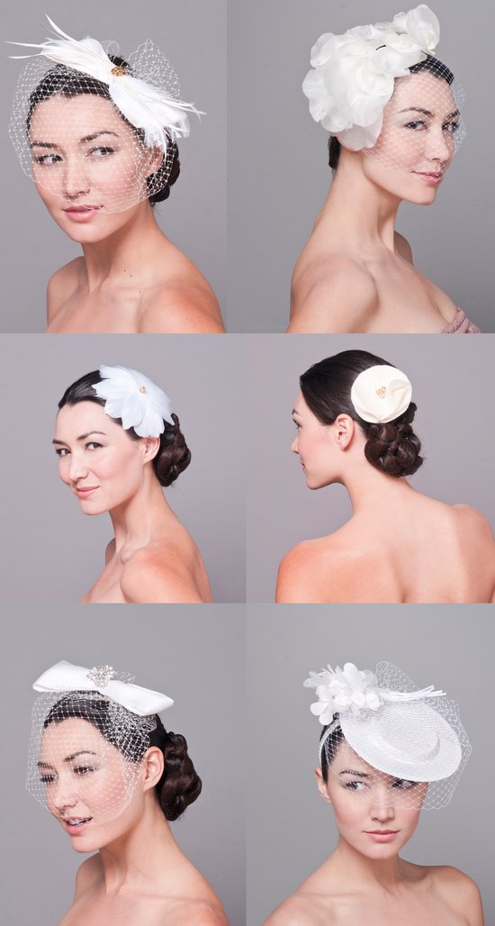 photo of Haute Couture Bridal Hats + Fascinators by Bijou Van Ness