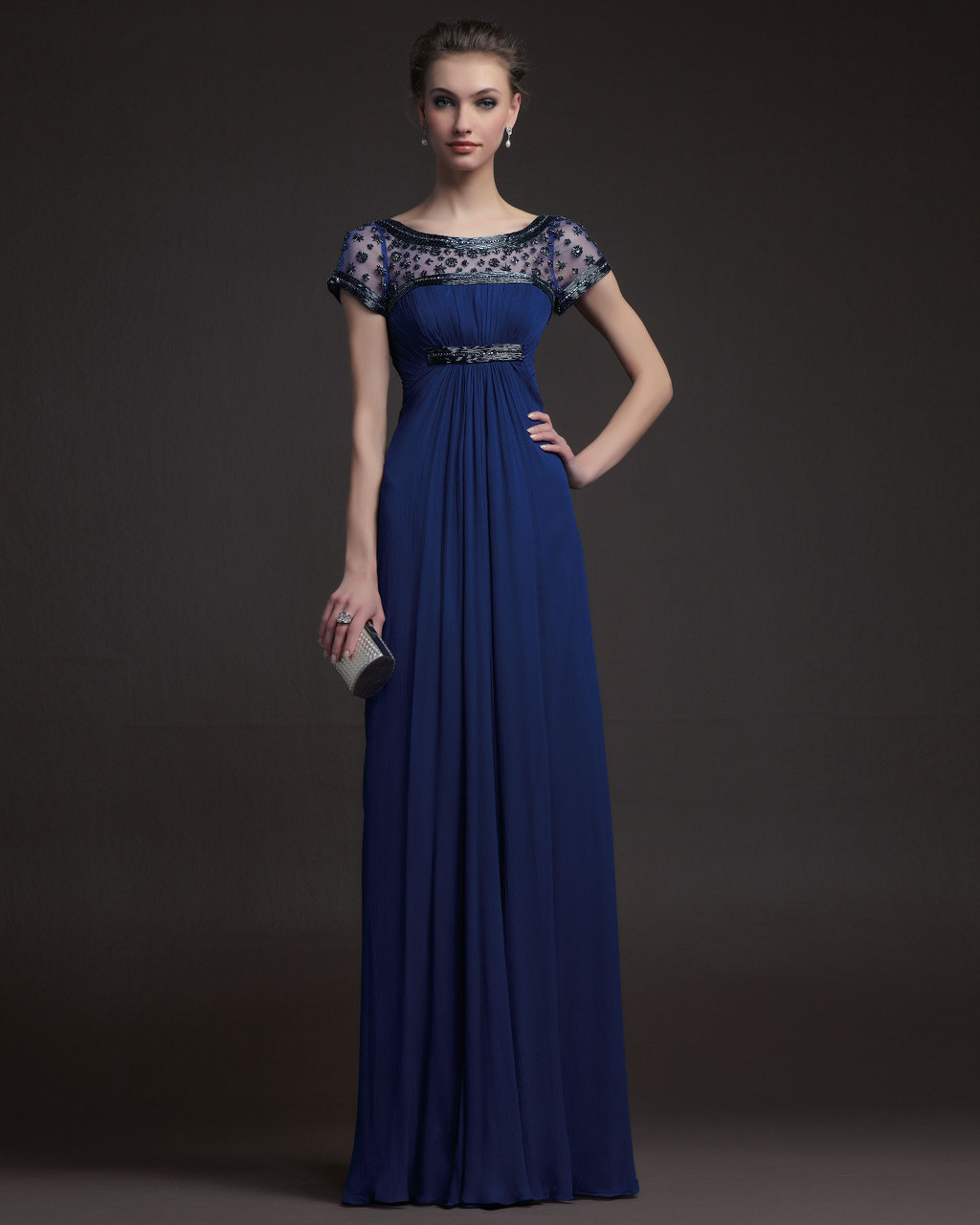 Gorgeous-2014-bridesmaid-dresses-from-aire-barcelona-navy-with-beaded-cap-sleeves.full