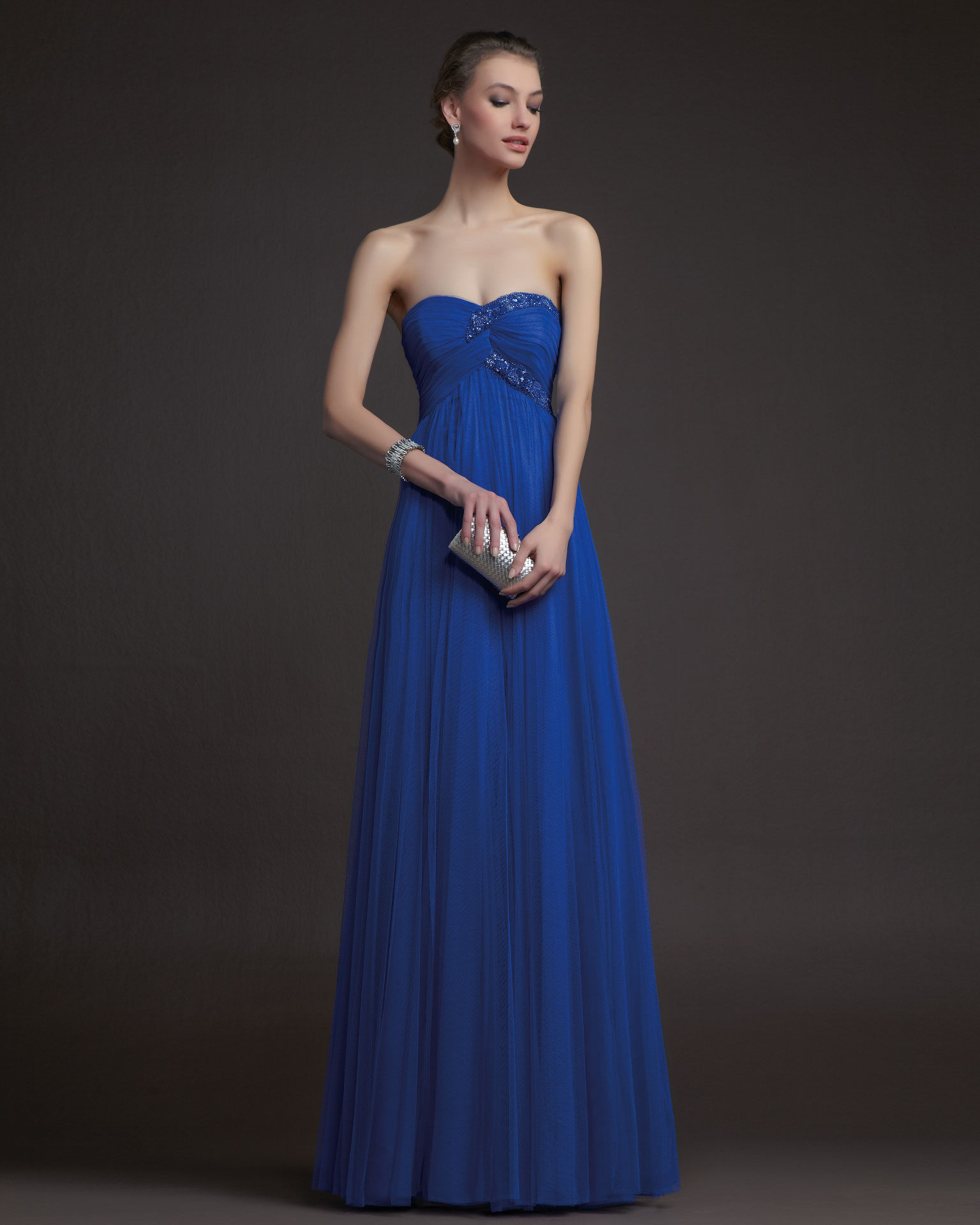 Gorgeous 2014 Bridesmaid Dresses From Aire Barcelona Blue One Shoulder