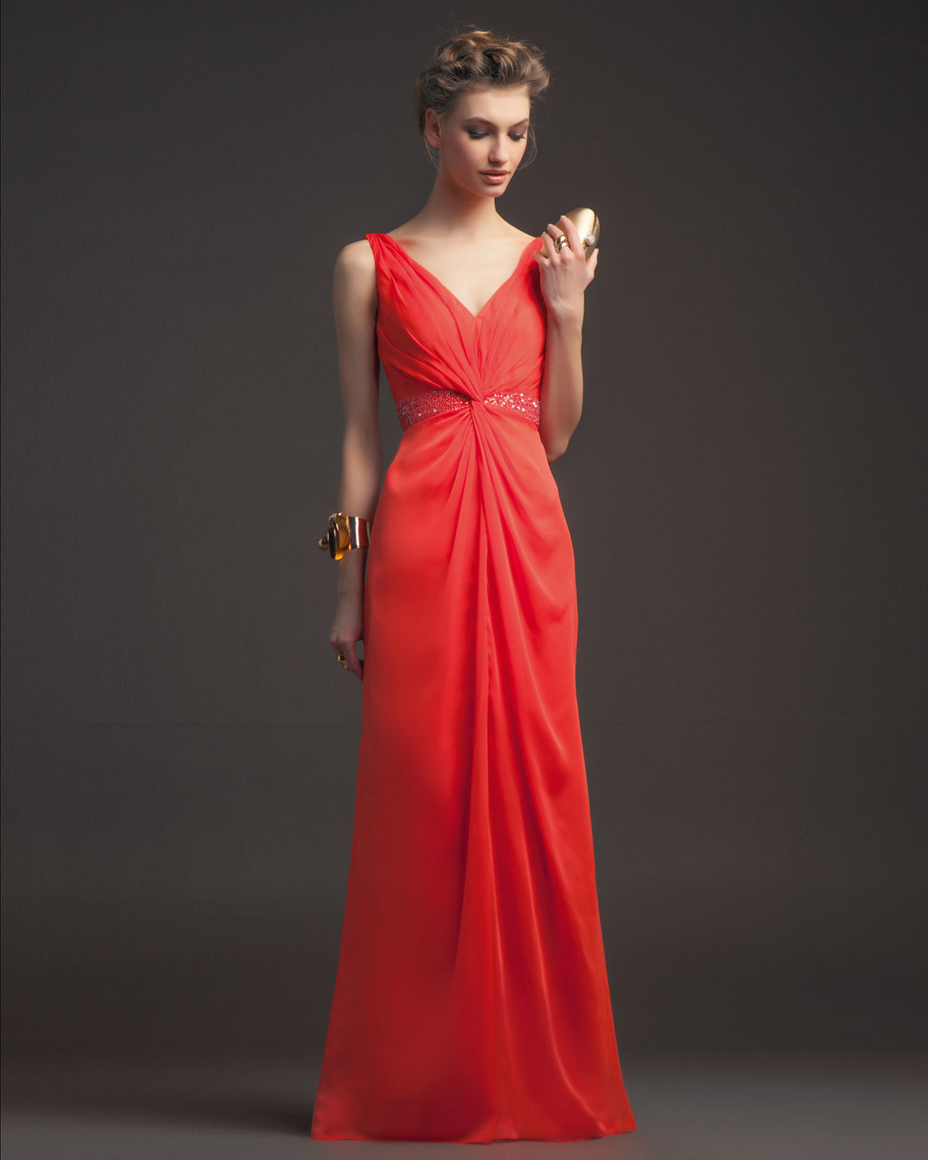Gorgeous-2014-bridesmaid-dresses-from-aire-barcelona-bright-coral-v-neck.full