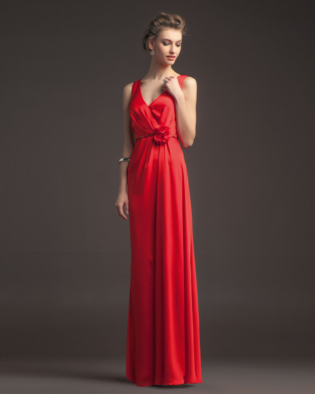 Gorgeous-2014-bridesmaid-dresses-from-aire-barcelona-vintage-red-silk-v-neck.full