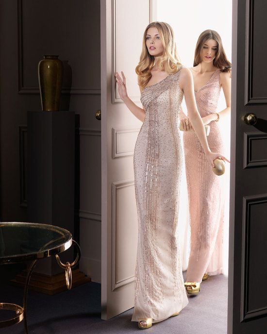 Gorgeous 2014 Bridesmaid Dresses from Aire Barcelona Champagne Beaded One Shoulder