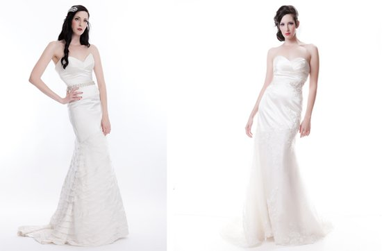 Sarah Houston wedding dresses, 2012 bridal- sweetheart mermaid and fit-and-flare gown