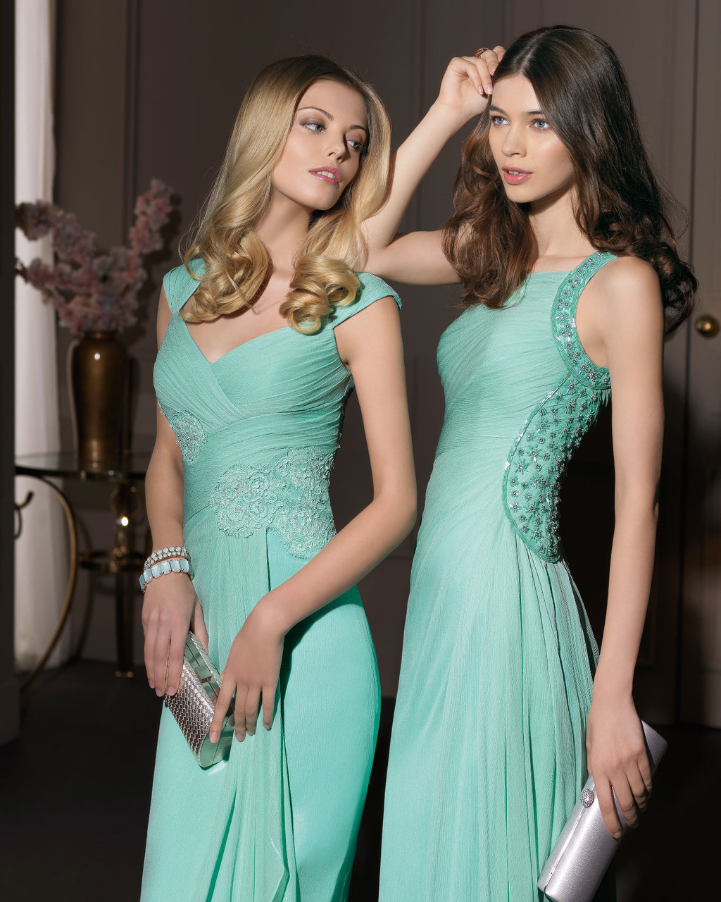 Gorgeous 2014 Bridesmaid Dresses from Aire Barcelona mint lace and tulle
