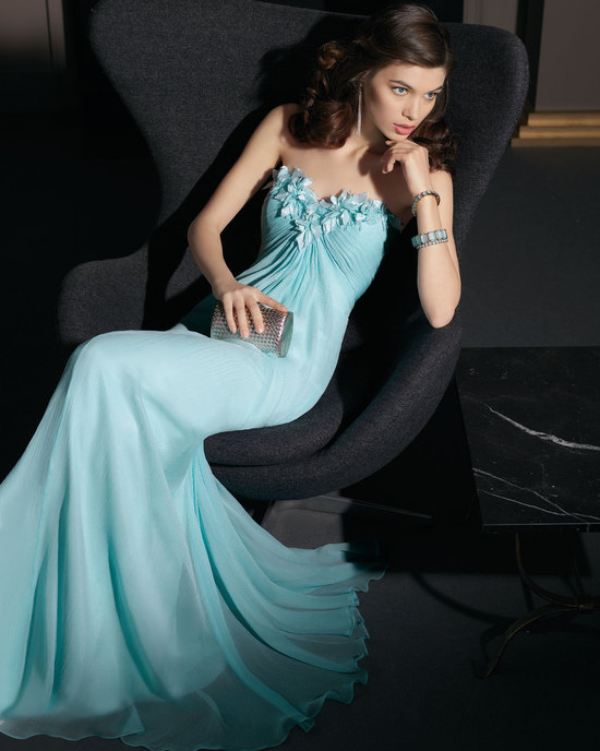 Gorgeous 2014 Bridesmaid Dresses from Aire Barcelona sky blue chiffon