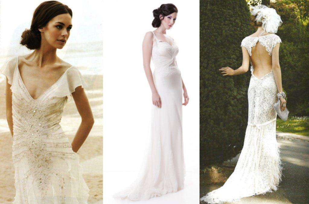 Sarah Houston wedding dresses- 2012 bridal- sleeved column with ...
