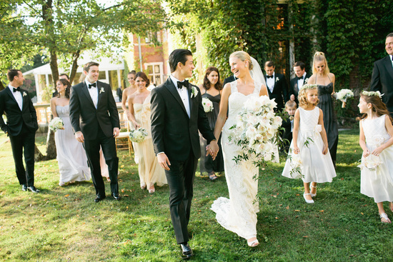 Elegant black tie wedding at a mansion