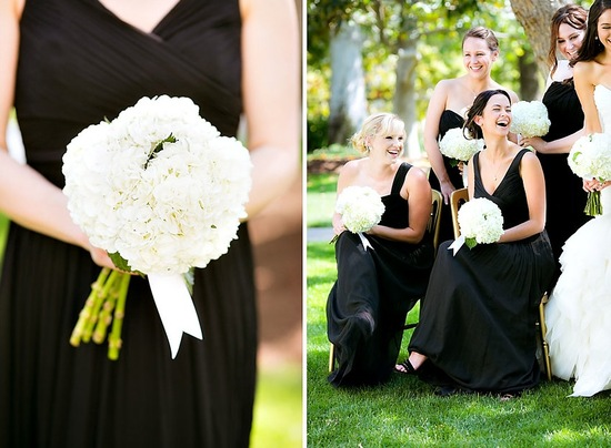 Black and white elegant wedding outdise