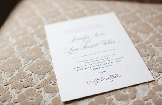 Black tie wedding invitation with luxe backdrop