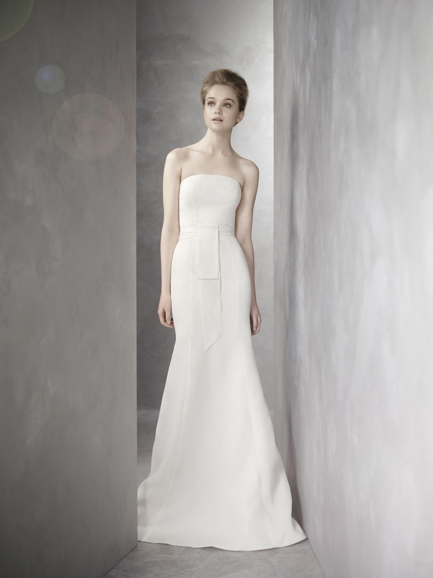 vera wang strapless wedding dresses
