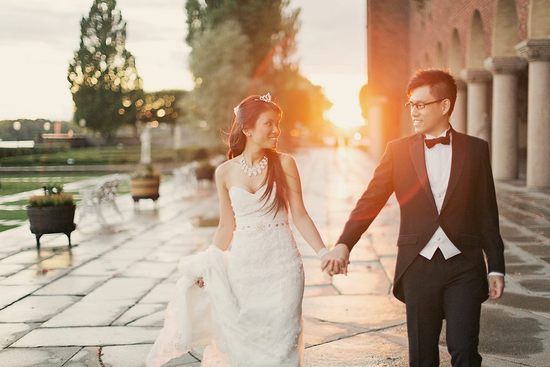 photo of Elegant black tie wedding in Sweden at a historical venue