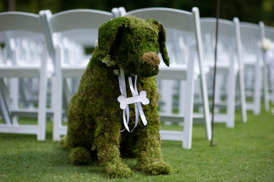 A great alternative to actually having your dog serve at the wedding