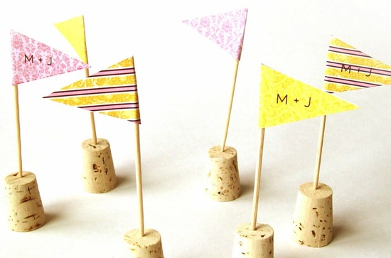 wine cork penant wedding escort cards