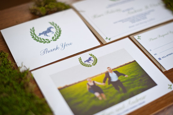 Wild Horses eco friendly wedding invitation