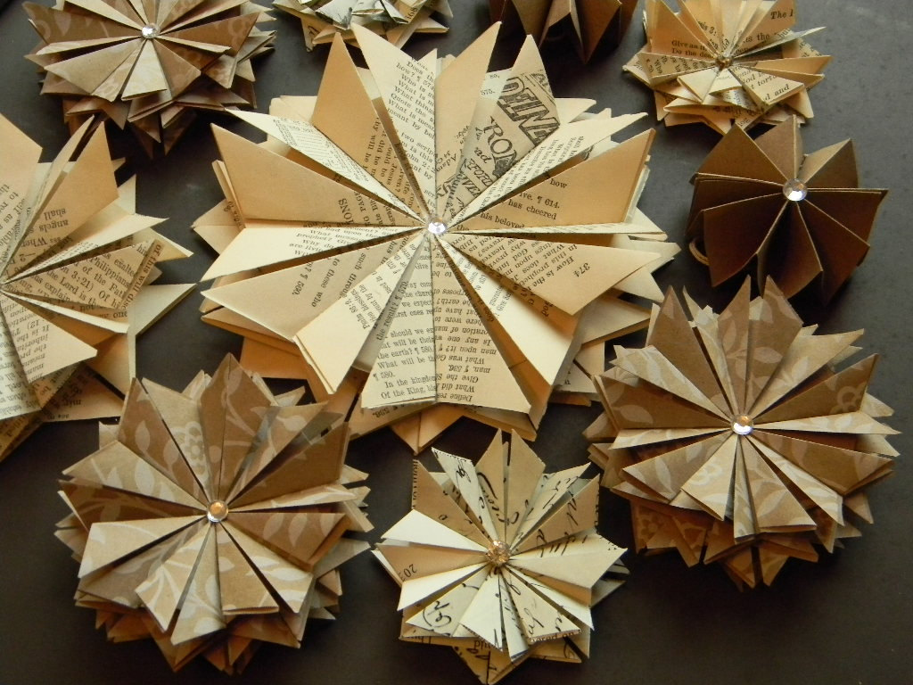 Vintage Paper Stars Wedding Wall Decor