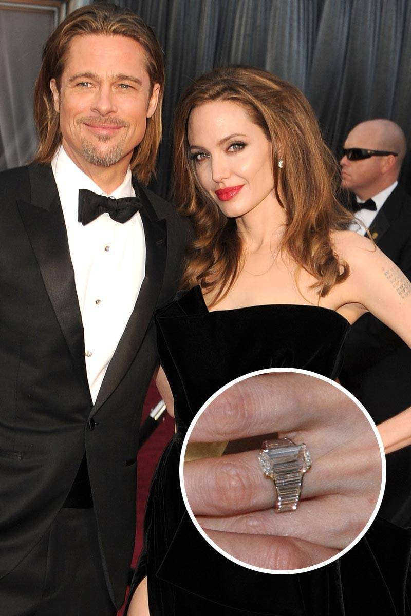 Most Loved Celebrity Engagement Rings Angelina Jolie