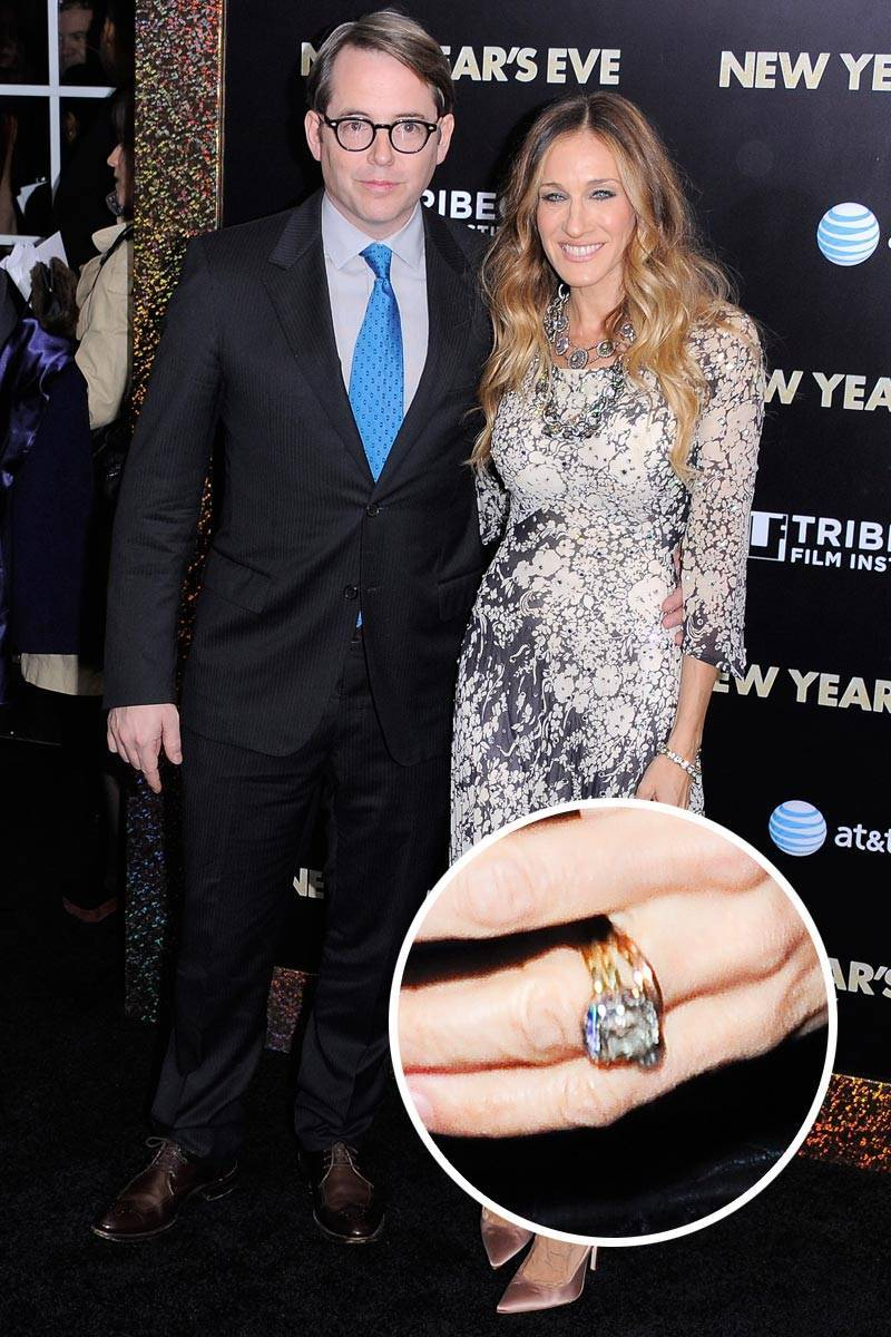 Most Loved Celebrity Engagement Rings Sarah Jessica Parker
