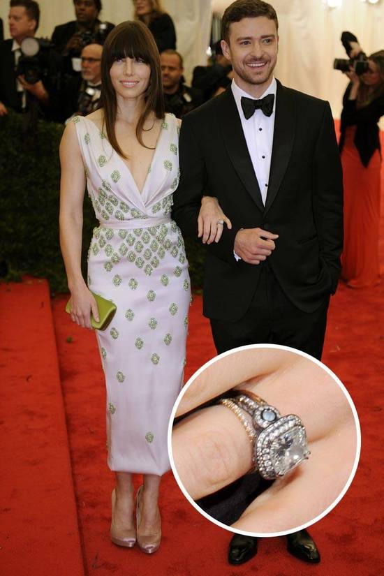 Most Loved Celebrity Engagement Rings Jessica Biel