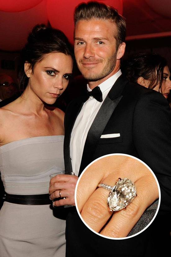 Most Loved Celebrity Engagement Rings Victoria Beckham