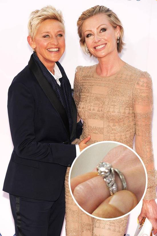 Most Loved Celebrity Engagement Rings Portia Di Rossi