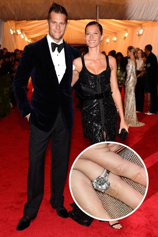 Most Loved Celebrity Engagement Rings Giselle