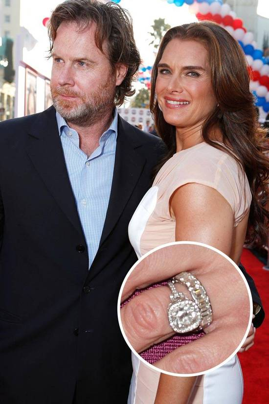 Most Loved Celebrity Engagement Rings Brooke Shields
