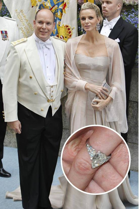 Most Loved Celebrity Engagement Rings Princess Charlene