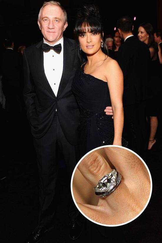 Most Loved Celebrity Engagement Rings Salma Hayek