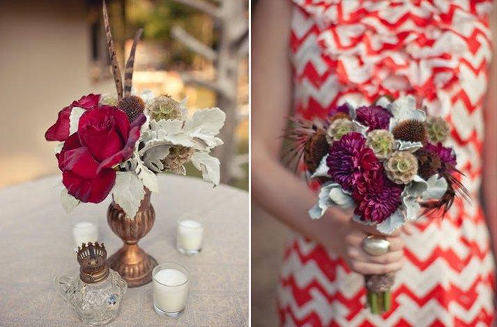 Dark + Romantic wedding flowers- red rose wedding centerpieces, deep ...
