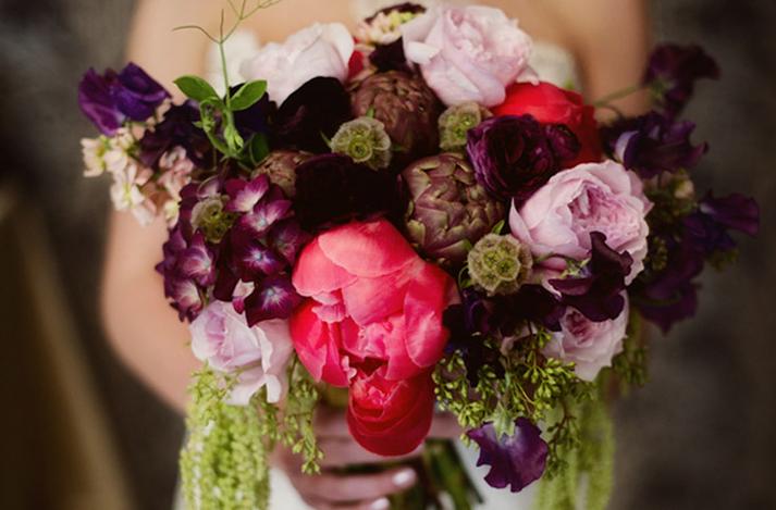 Dark Purple Wedding Flower Bouquets : Dark romantic wedding flowers purple and red bridal