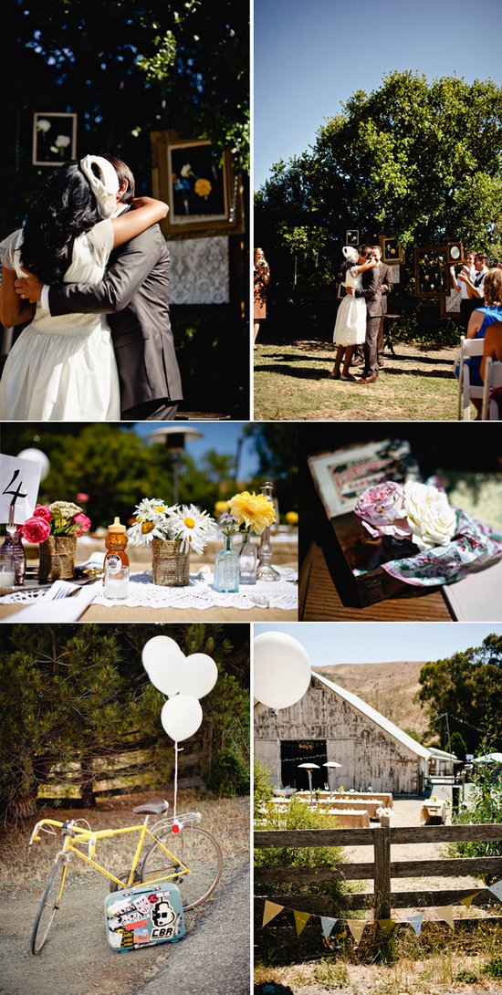 Real California weddings- vintage bride, barn wedding venue by Matthew Morgan Photography- 7