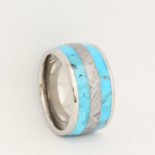 Meteorite turquoise band