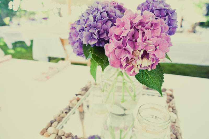 Pink-and-purple-hydrangeas-for-glamping-themed-wedding-reception.full