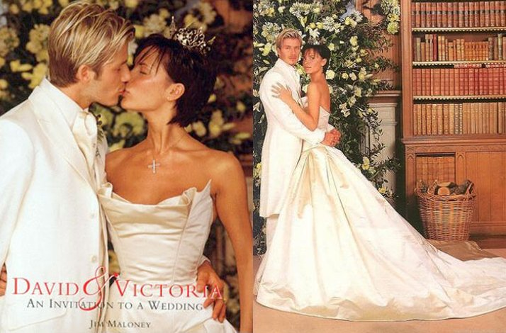 Sensational real wedding photos- David and Victoria Beckham's wanna be royal wedding