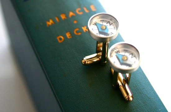 Glamping wedding theme cuff links for the groom