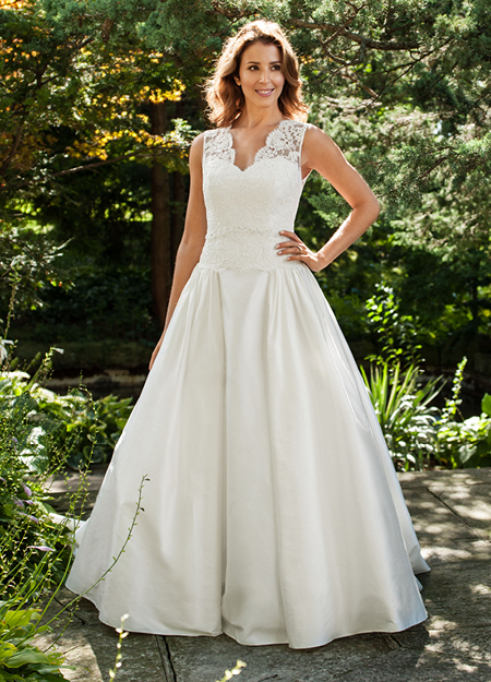 Classic wedding dress by Lea Ann Belter 2013 Bridal Bernadette