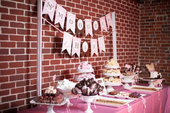 photo of Seriously Sweet Wedding Reception Dessert Bar