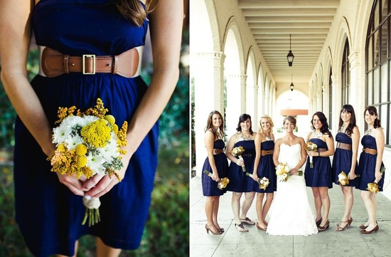 Amazing wedding photography by Shannen Natasha bridesmaids in navy with brown belts