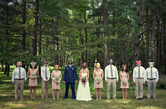 Real weddings with military grooms in uniform- offbeat wedding party