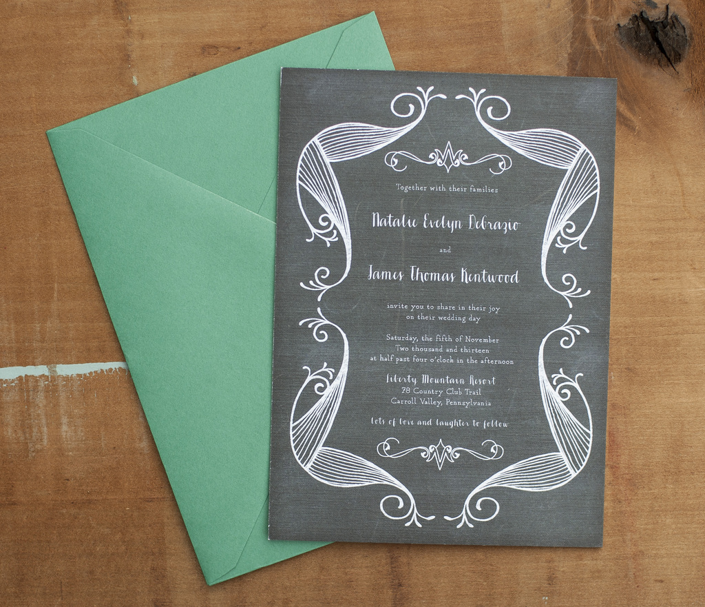 Green and Grey Invitations