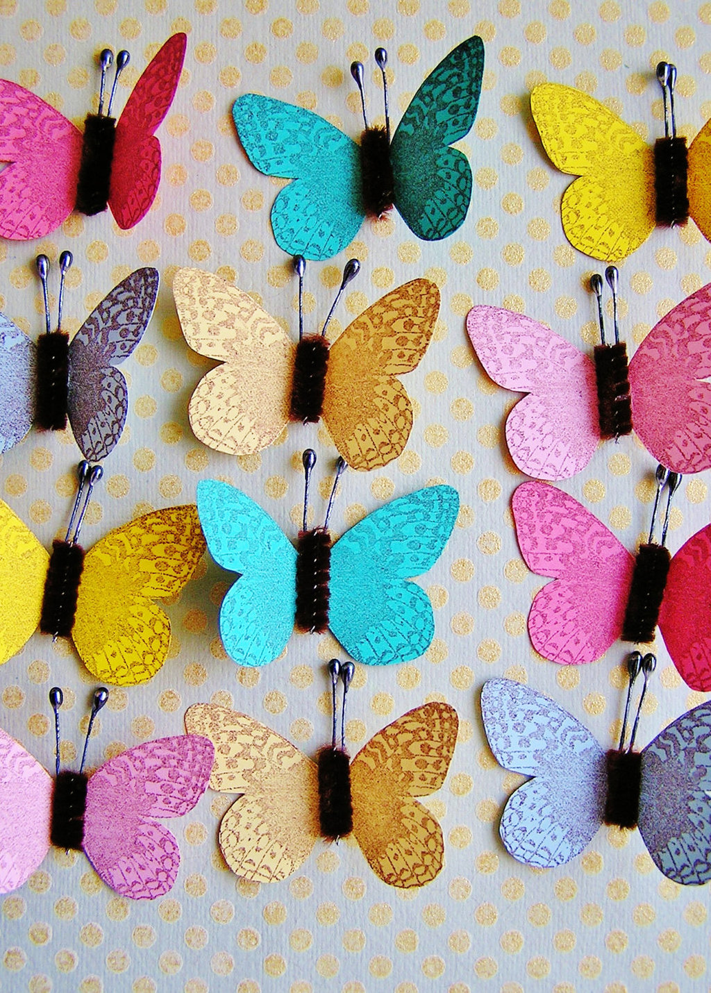 saltwater taffy butterflies for the wedding reception