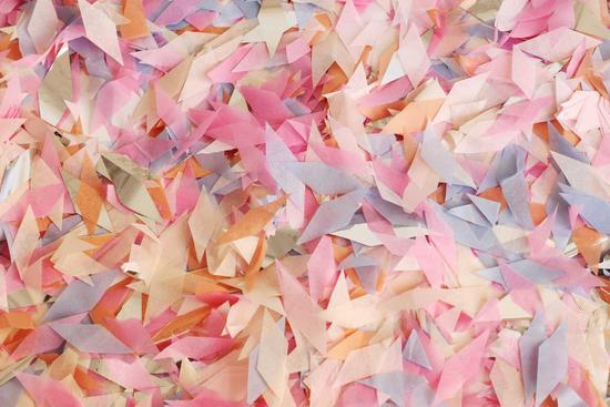 Pastel confetti for a memorable wedding send off