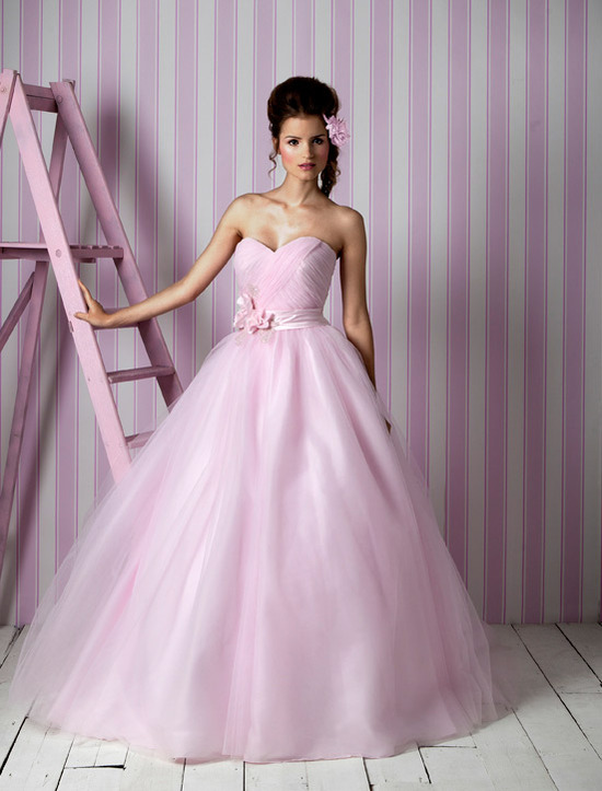 Charlotte Balbier wedding dresses, 2012 bridal gown- pink ballgown