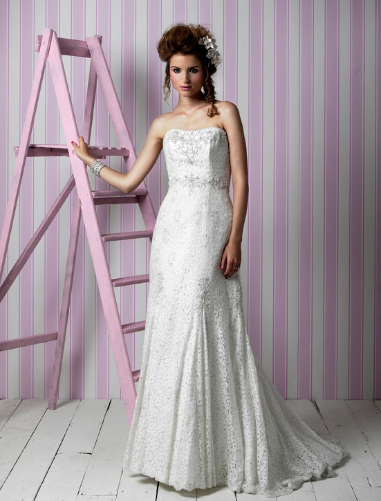 Charlotte Balbier wedding dresses, 2012 bridal gown- modified mermaid