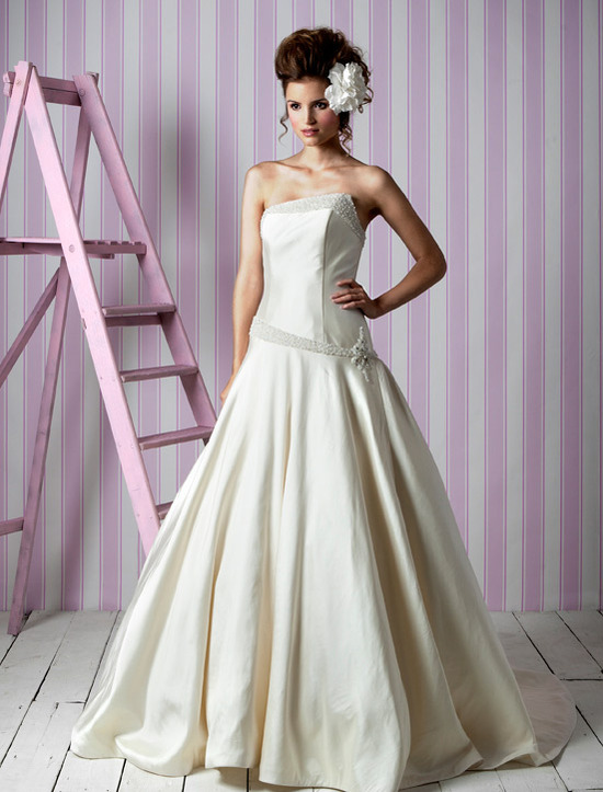 Charlotte Balbier wedding dresses, 2012 bridal gown- asymmetric ballgown