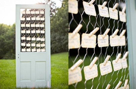 Vintage wedding decor ideas- ceremony and reception details, escort cards