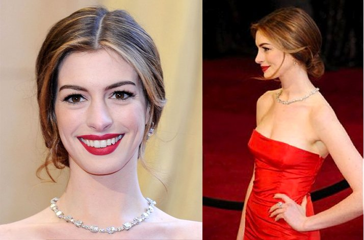 Wedding hairstyle ideas, inspiration from the red carpet- vintage-inspired updo