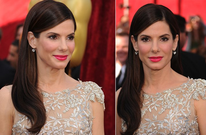 Wedding hairstyle ideas, inspiration from the red carpet- sleek down do